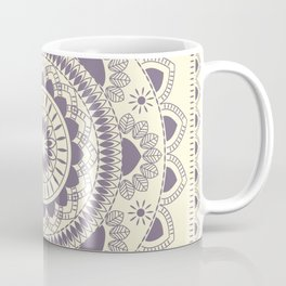 Boho Indian medallion Cream Coffee Mug