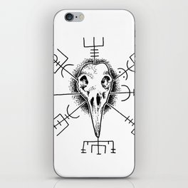 Raven and Vegvisir iPhone Skin