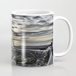 Cloudy Paignton Beach Coffee Mug