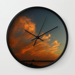 Venice Beach Sunset - Florida Wall Clock