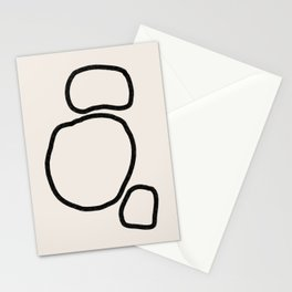 Abstract Stones, Minimalist Art Stationery Cards