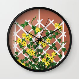 Black-Eyed Susans on Browns Wall Clock