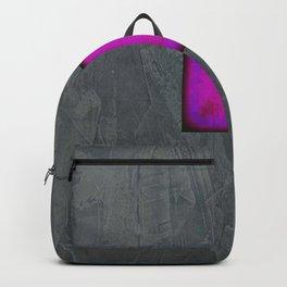 Slate Gray Lavender Fuschia Modern Art Backpack