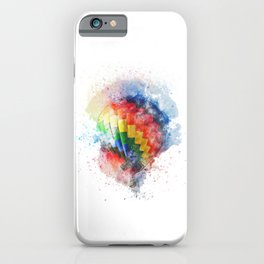 Hot air balloon in watercolor iPhone Case