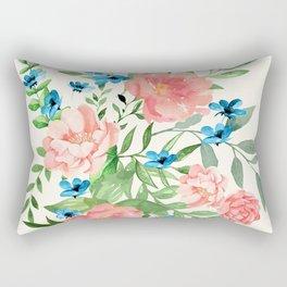 Watercolor Peonies Rectangular Pillow