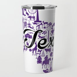 TCU Texas Landmark State - Purple and Black TCU Theme Travel Mug