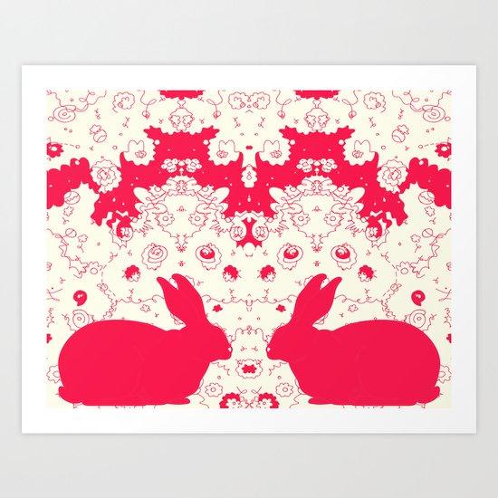 Red Rabbit Collaboration Art Print