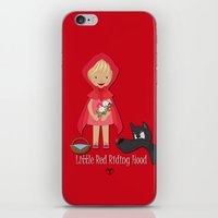 red riding hood iPhone & iPod Skins featuring Little Red Riding hood by MyimagesArt