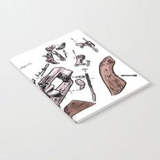 Exploded Gun Notebook