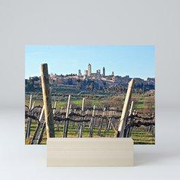 Tuscany's Town of Fine Towers Mini Art Print