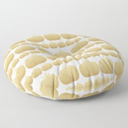 Gold Glitter Pumpkin Floor Pillow
