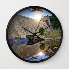 Over the Dam Wall Clock