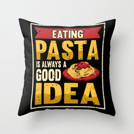 Funny Pasta Italy Pasta Spaghetti Gift Throw Pillow
