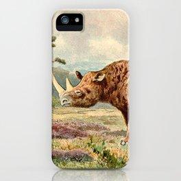 Woolly Rhino iPhone Case