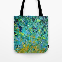 BEAUTY BENEATH THE SURFACE - Stunning Ocean River Water Nature Green Blue Teal Yellow Aqua Abstract Tote Bag