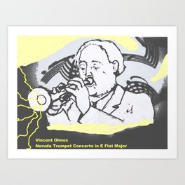 Vincente Olmos 'Neruda Trumpet Concerto in E Flat Major'  by Kay Lipton Art Print