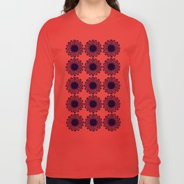 vintage flowers blue  Long Sleeve T-shirt
