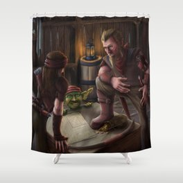 Three Rogues Shower Curtain