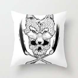 Foxy Vixen Throw Pillow
