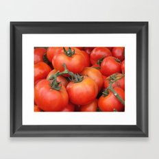 Bright Red Garden Tomatoes Framed Art Print
