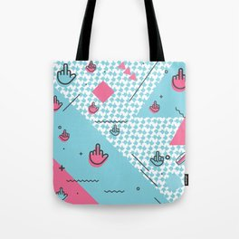 Geometic Fingers Tote Bag