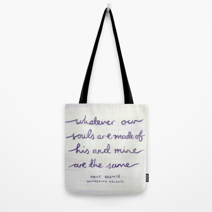 Wuthering Heights Quote Tote Bag