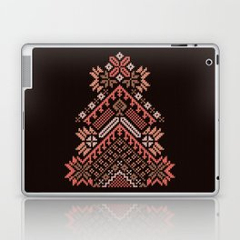 Knitted beautiful coral Christmas tree Laptop & iPad Skin