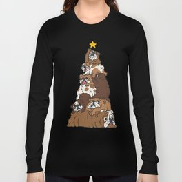 Christmas Tree English Bulldog Long Sleeve T-shirt