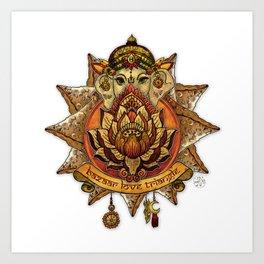 Keep Korma and Curry On Art Print