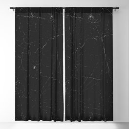 Black distressed marble texture Blackout Curtain