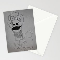handing cat Stationery Cards