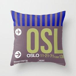 OSL Oslo Luggage Tag 2 Throw Pillow