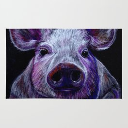 Colorist Pig Illustration Rug