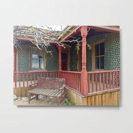 Bottle house rhyolite,ghost town Metal Print