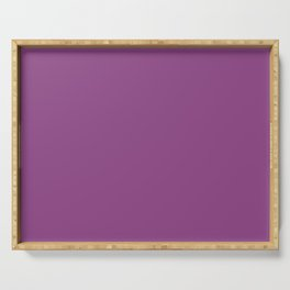 Plum Purple Solid Color Serving Tray