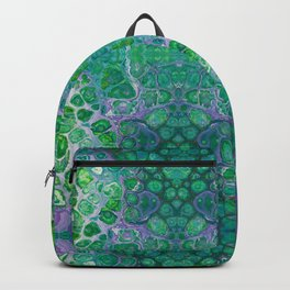 Green marble painting Backpack