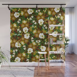 floral camo Wall Mural
