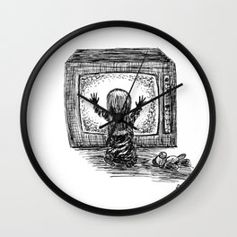 They're Here Wall Clock