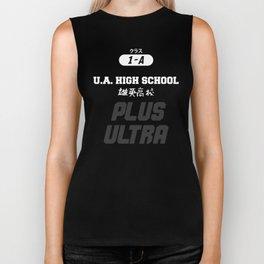 U.A. High School Print Biker Tank