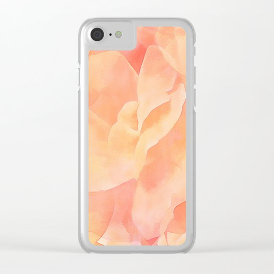 Nothing But Peach Clear iPhone Case