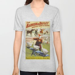 Vintage poster - Circus Unisex V-Neck