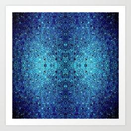 Deep blue glass mosaic Art Print