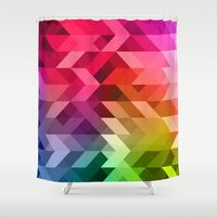 3d Shower Curtains featuring 3d Retro  by T M B