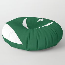 The National Flag of Pakistan - Authentic Version Floor Pillow