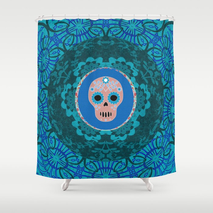 Boujee Boho Cutie Sugar Skull Shower Curtain