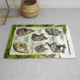Sloths of the Rainforests  Rug