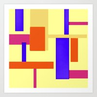 geo Art Prints featuring Geo by lillianhibiscus