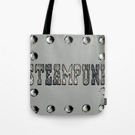 Steampunk Metal Plate Tote Bag