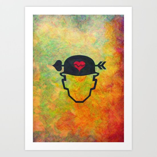 Soldier of love Art Print