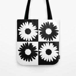 Checker Daisy Bouquet Tote Bag